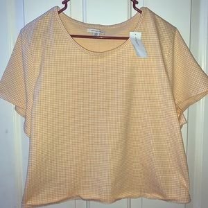 NEW, American Eagle, Yellow Plaid Baby T-Shirt,